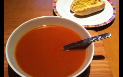 Butternut Squash & Red Pepper Soup