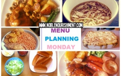 Menu Plan Monday 19th May 2014