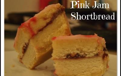 Pink Jam Shortbread
